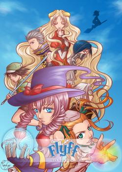 Illustration annonçant le manga Fly For Fun par Rosalys