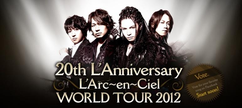 En 2012, l'Arc~en~Ciel réalisera une tournée mondiale qui passera par la France.