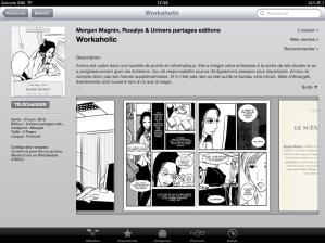 Aperçu de Workaholic dans l'iBookStore