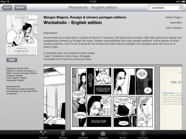 Workaholic has just been released in English on the iBookStore