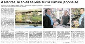 Article de Ouest France (édition du samedi 23 juin 2012) consacré à Otaku Tōkyō isshūkan
