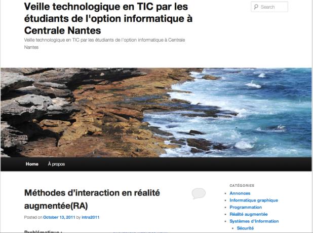 Aperçu du blog de veille technologique des étudiants en informatique de Centrale Nantes