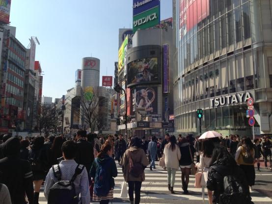 Jour 1, arrivée, vendredi 15 mars 2013 : Shibuya sous un soleil de printemps