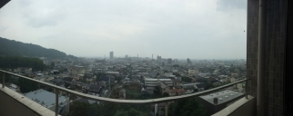 View from the 8th floor of some building at Yamanashi University