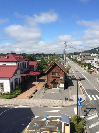 Global view on Karuizawa, which is a small city in the mountains in the center of Japan. Karuizawa currently bids for hosting G8 meeting in Japan in 2016.