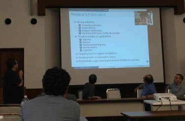 Fabrizio Riguzzi point of view about the progress of Inductive Logic Programming at ILP'2015 panel.