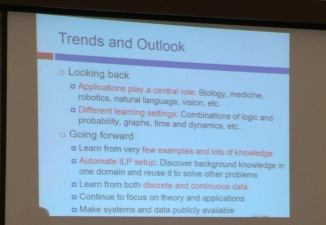 The feelings from ILP2014 chair about the trends in Inductive Logic Programming at ILP'2015 panel.