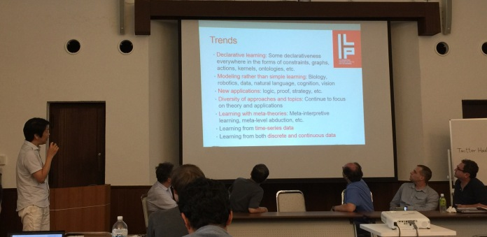 Finally, on behalf of ILP'2015 chairs, Katsumi Inoue shares his views on Inductive Logic Programming at the final panel.